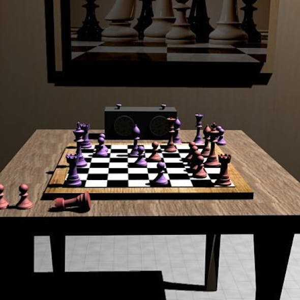 Chess Set (Chessboard and Mini-Room)