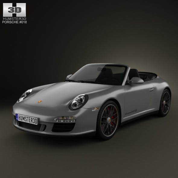 Porsche 911 Carrera 4GTS Cabriolet 2011 - 3DOcean Item for Sale