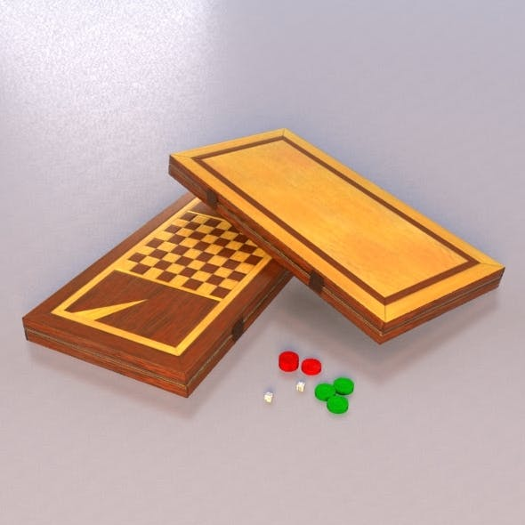 Backgammon + Checkers - 3DOcean Item for Sale