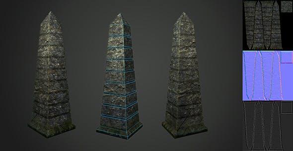 Low Poly Pillar - 3DOcean Item for Sale