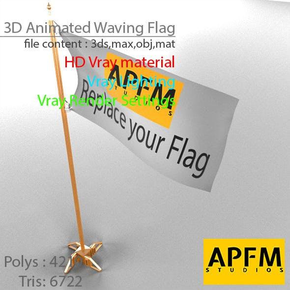 3D Animated Waving Flag