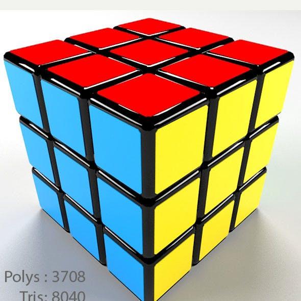 3D High Quality 3x3 Rubik's Cube Model