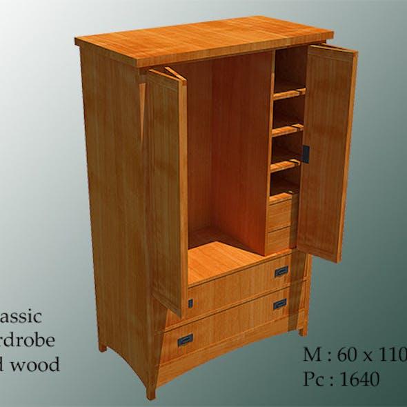 Classic Wardrobe Solid Wood