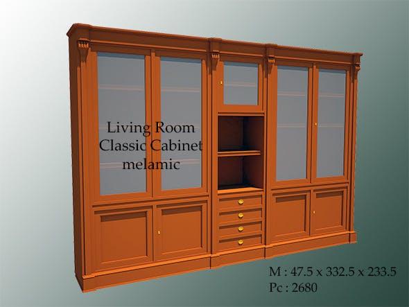 Living Room Classic Cabinet Melamic - 3DOcean Item for Sale