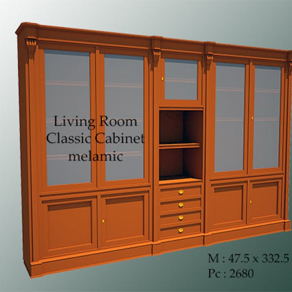 Living Room Classic Cabinet Melamic