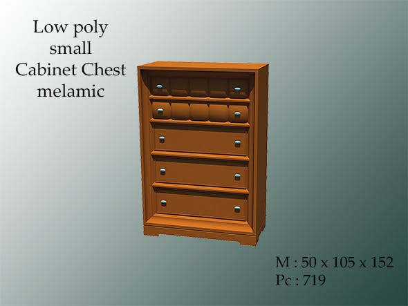 Small Cabinet Chest Melamic - 3DOcean Item for Sale