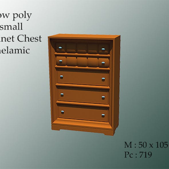 Small Cabinet Chest Melamic