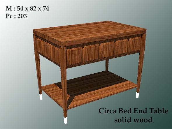 low poly circa bed end table - 3DOcean Item for Sale