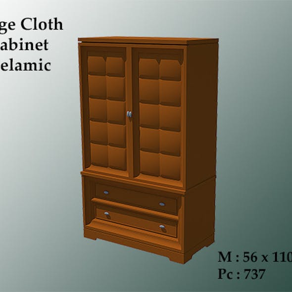 Large Cloth Cabinet Melamic