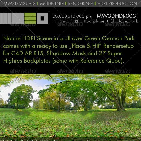 MW3DHDR0031 Nature HDRI Scene in a German Park