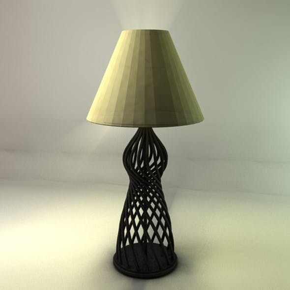 Realistic Detailed Table Lamp