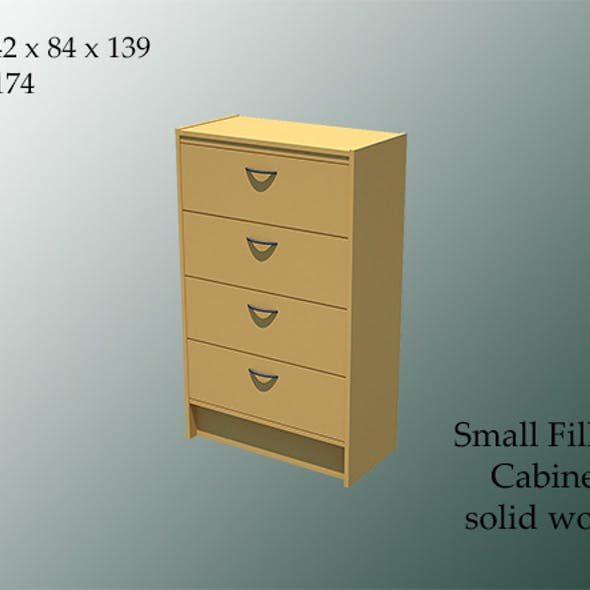 small filling cabinet wood