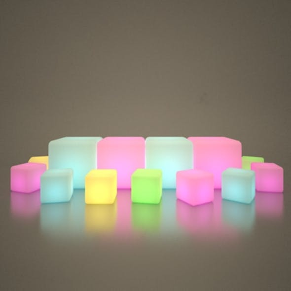 Illuminated Cubes - 3DOcean Item for Sale
