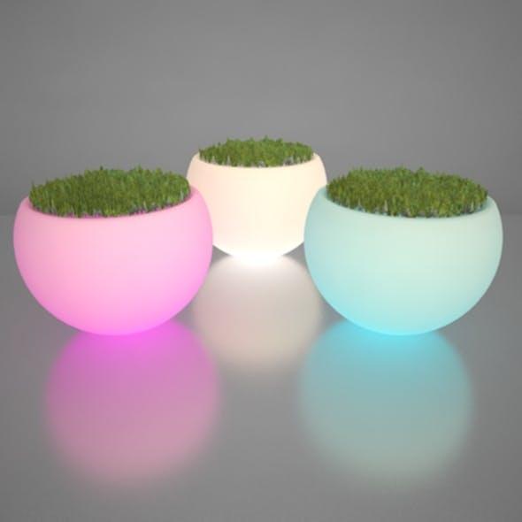 Illuminated Planter - 3DOcean Item for Sale