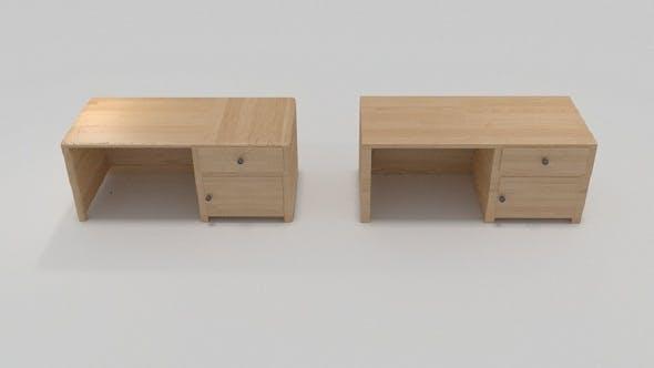 Wooden Desk - 3DOcean Item for Sale
