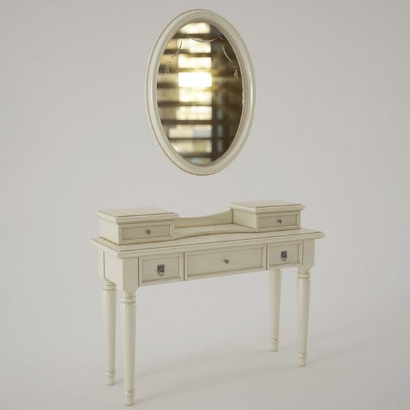 Camelgroup Nostalgia Dressing Table With Mirror - 3DOcean Item for Sale