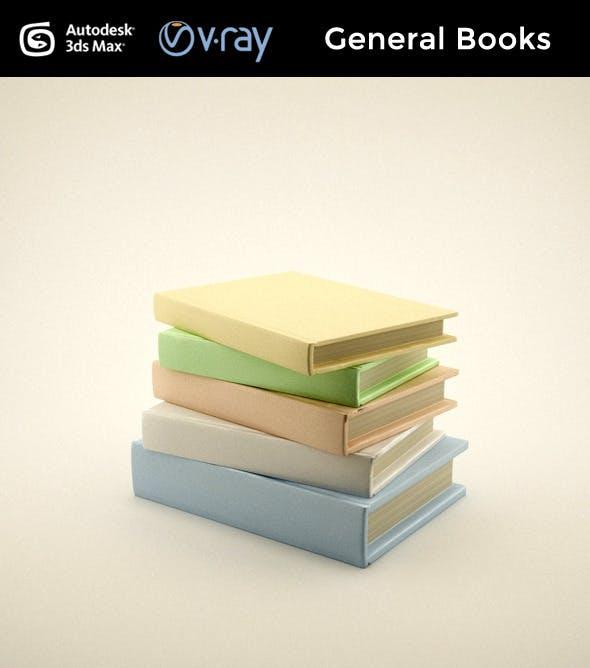 General books - 3DOcean Item for Sale