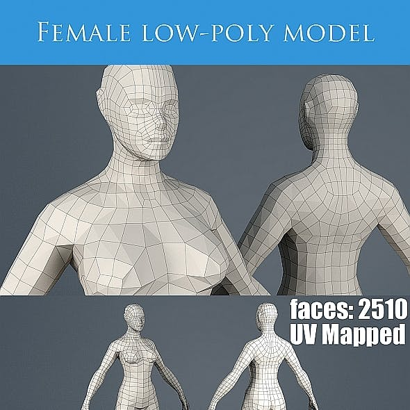 Low poly base mesh female