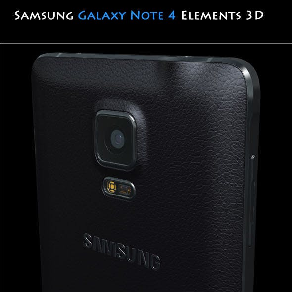 Samsung Galaxy Note 4 Black - Element 3D