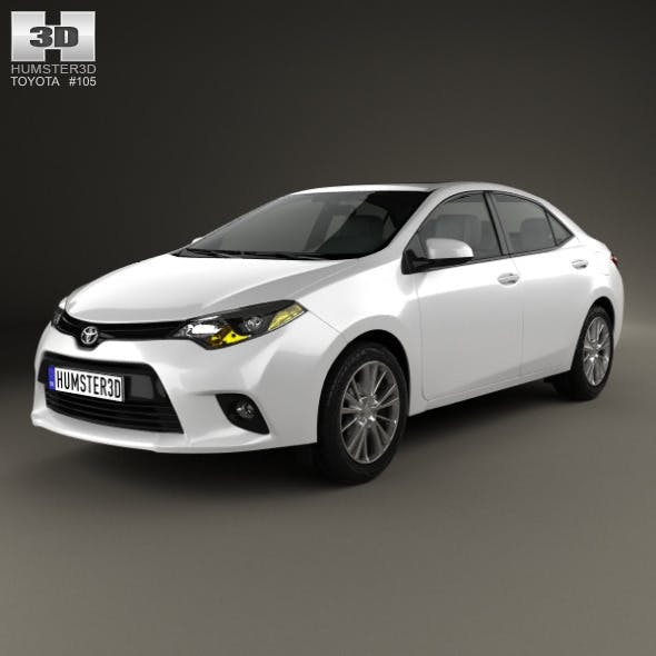 Toyota Corolla LE Eco US 2013 - 3DOcean Item for Sale