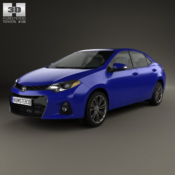 Toyota Corolla S US 2013 - 3DOcean Item for Sale