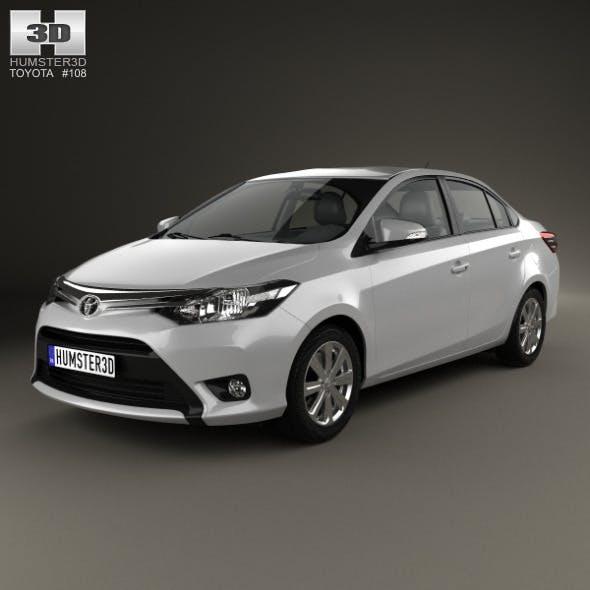 Toyota Yaris sedan 2014 - 3DOcean Item for Sale