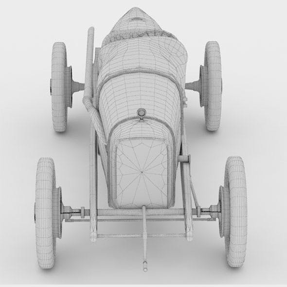 Duesenberg GP 1921 High Poly 3D Model
