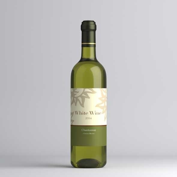 White wine bottle - 3DOcean Item for Sale