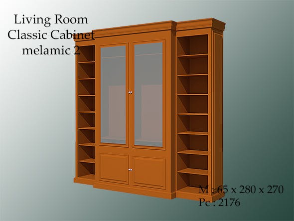 living room classic cabinet melamic 2 - 3DOcean Item for Sale