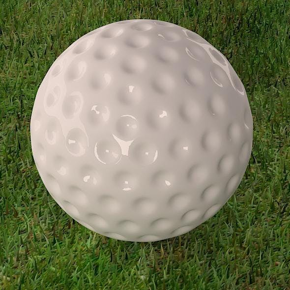 Golf ball with environment - 3DOcean Item for Sale
