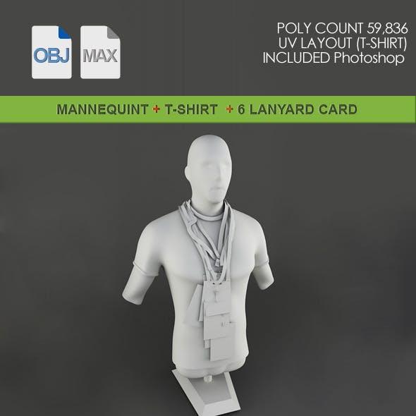 Mannequint  T-shirt & Lanyard Card