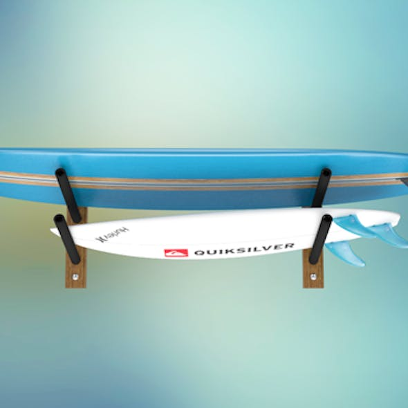 Surfboards and Rack