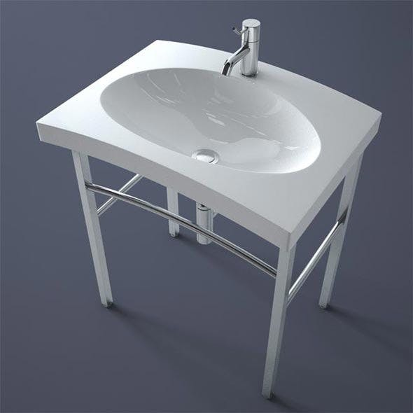 Simas Duemilasette Lavabo Washbasin - 3DOcean Item for Sale