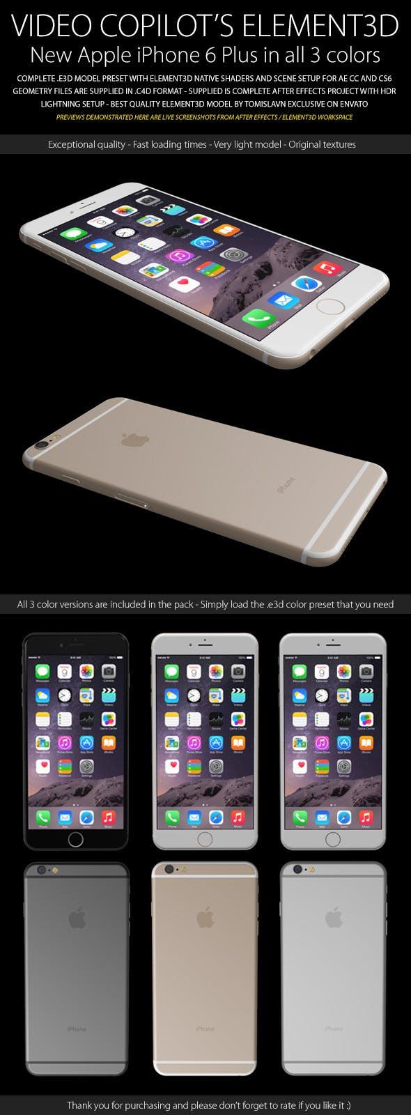 Element3D - iPhone 6 Plus - 3DOcean Item for Sale