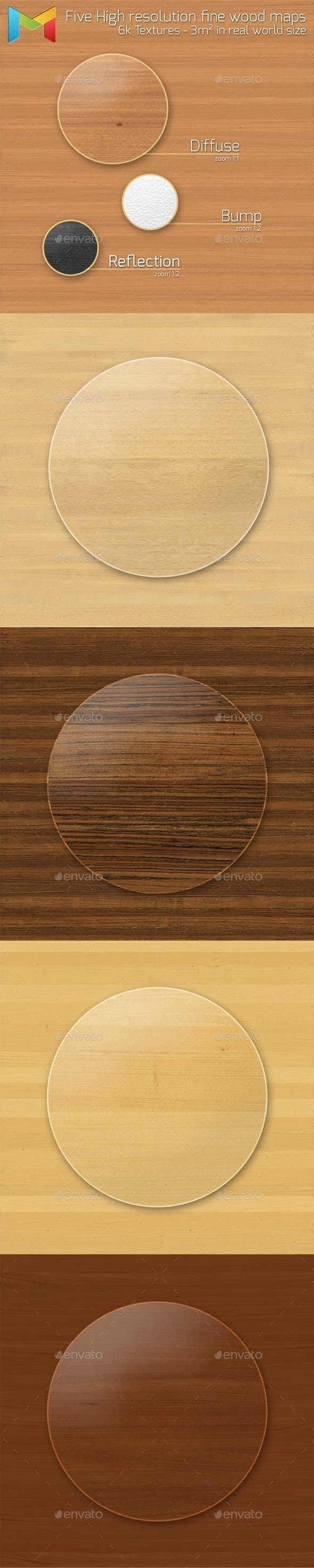 Fine Wood HQ Textures - 3DOcean Item for Sale