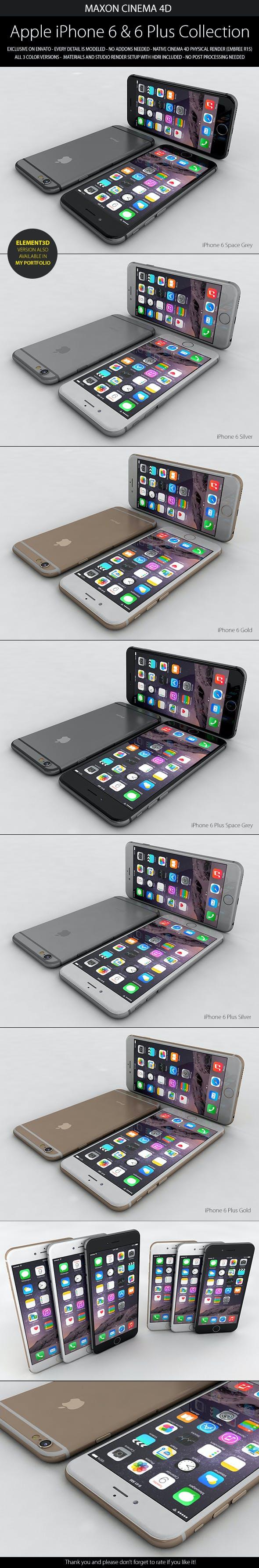 iPhone 6 & 6 Plus - 3DOcean Item for Sale