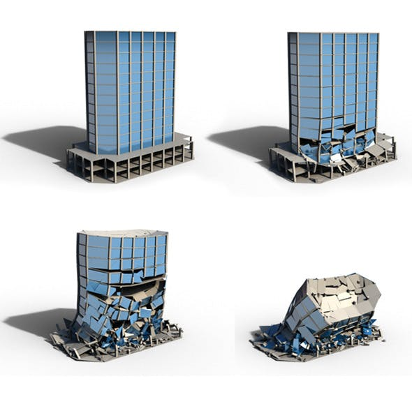 Collapse Building - 3DOcean Item for Sale