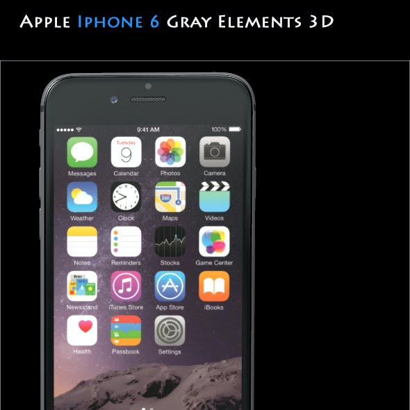 Element3D - Apple Iphone 6 Gray