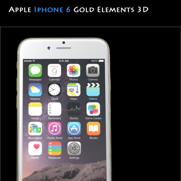 Element3D - Apple Iphone 6 Gold