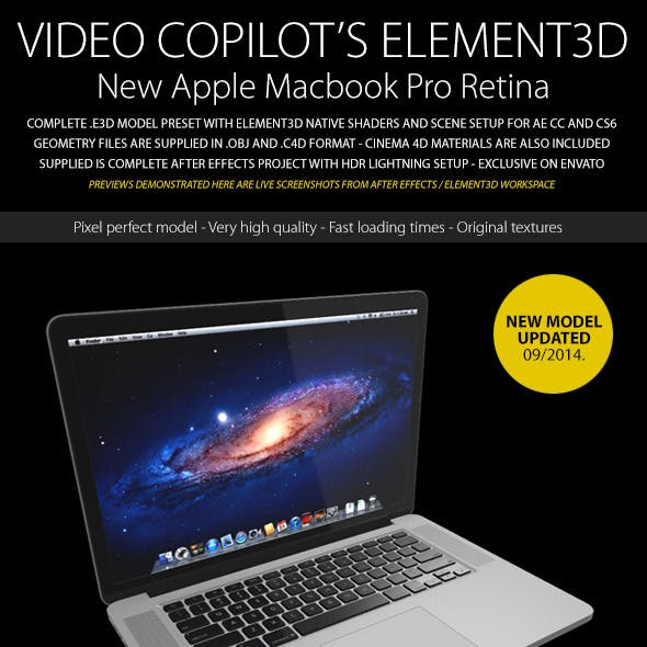 Element3D - Apple Macbook Pro Retina