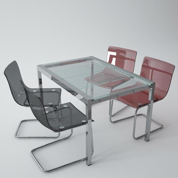 Ikea Glivarp Table, Tobias Chair