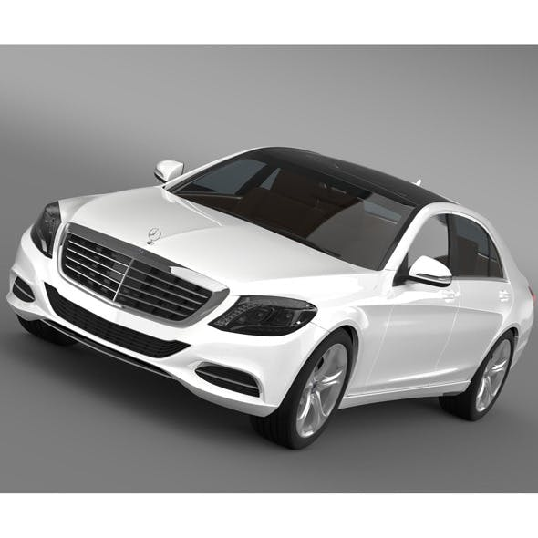 Mercedes Benz S 500 Plug In Hybrid W222 2013 - 3DOcean Item for Sale