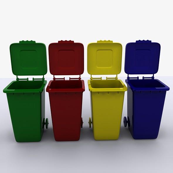 Rolling Trash Bin  - 3DOcean Item for Sale