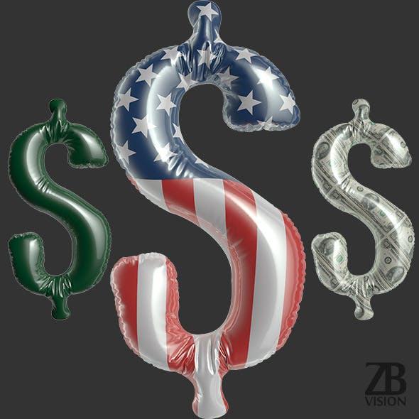 Dollar Balloon - 3DOcean Item for Sale