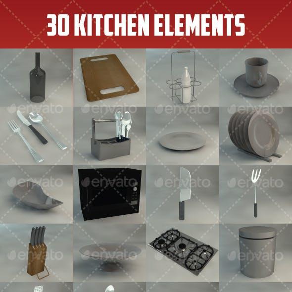 30 Kitchen Elements