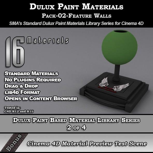 Dulux Paints Series Pack-02-FeatureWalls [C4D] - 3DOcean Item for Sale
