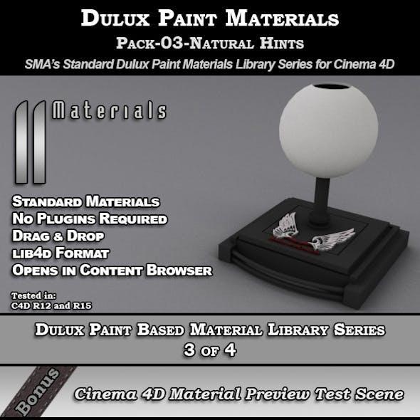 Dulux Paints Series Pack-03-Natural Hints [C4D]