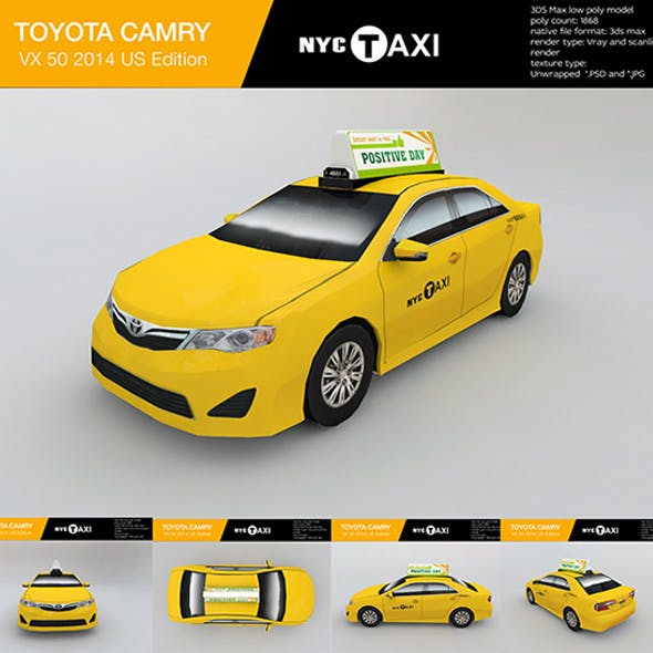 New York City taxi Toyota camry 2013