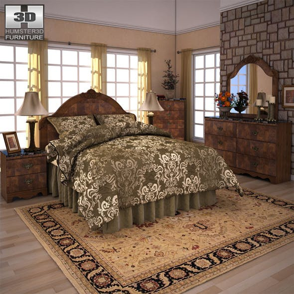 Ashley Buckingham Panel Bedroom Set - 3DOcean Item for Sale