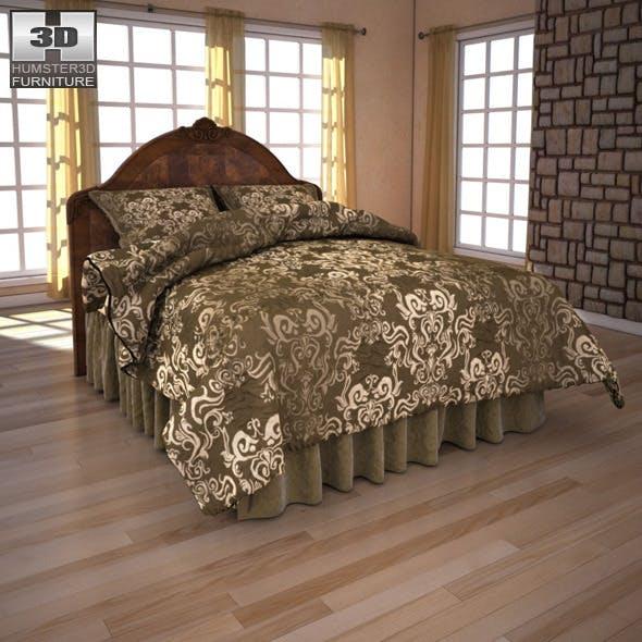 Ashley Buckingham Queen Panel Headboard Bed - 3DOcean Item for Sale
